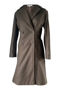 khaki double breasted coat | designer winter coats