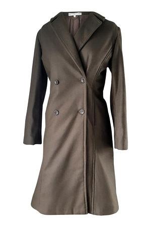 khaki double breasted coat | designer winter coats