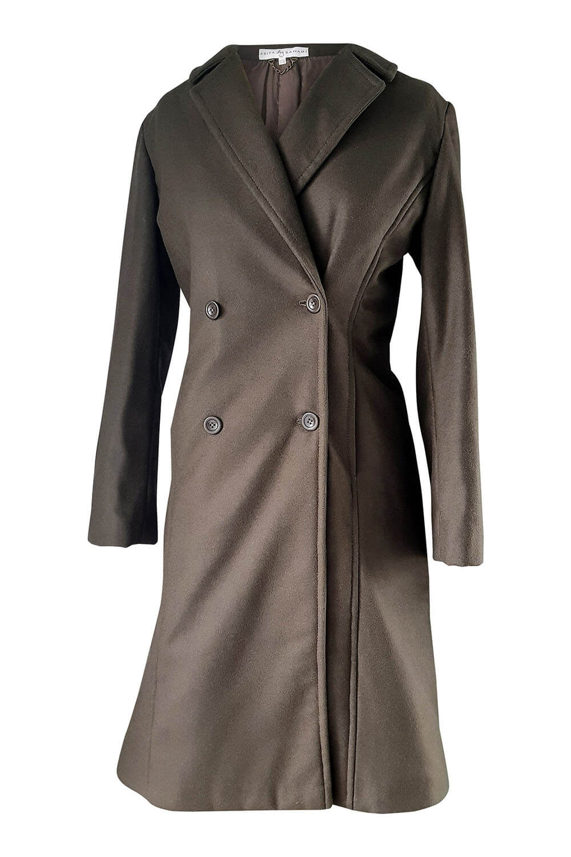 khaki double breasted coat   designer winter coats
