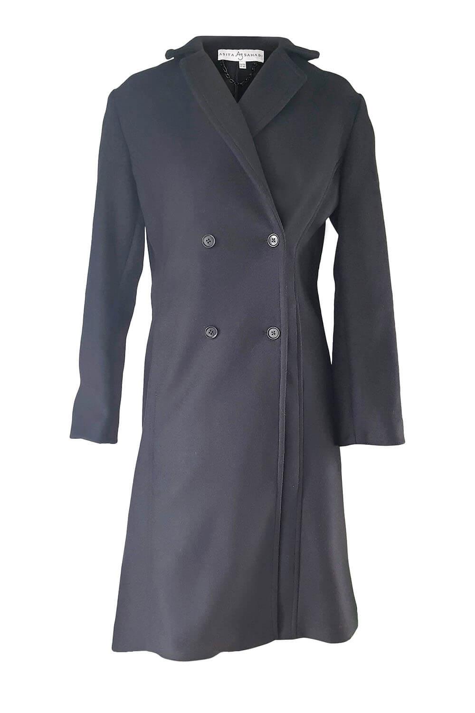black double breasted coat   designer winter coats