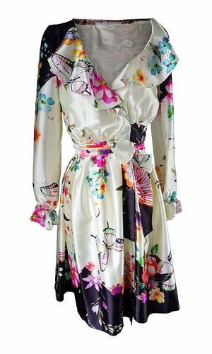 floral midi dress with volants | yellow dress | ASITA SAHABI