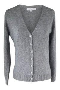 grey cashmere cardigan | fine knitwear