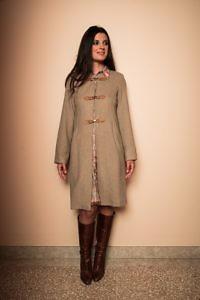 sand Strickmantel | ASITA SAHABI | Italienische Designermäntel