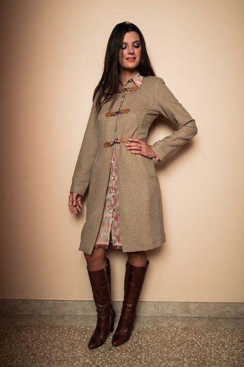 cognac Strickmantel | ASITA SAHABI | Damenmäntel- und Jacken