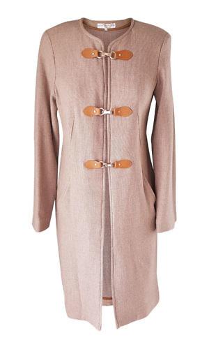 beiger Strickmantel | ASITA SAHABI | Damenmäntel- und Jacken