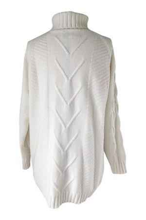 white cashmere turtleneck jumper | cashmere sweater