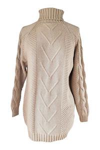 beige cashmere turtleneck jumper | fine knitwear