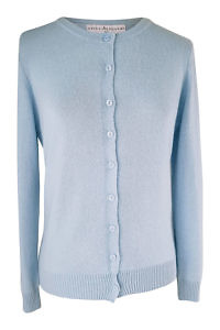 light blue cashmere cardigan