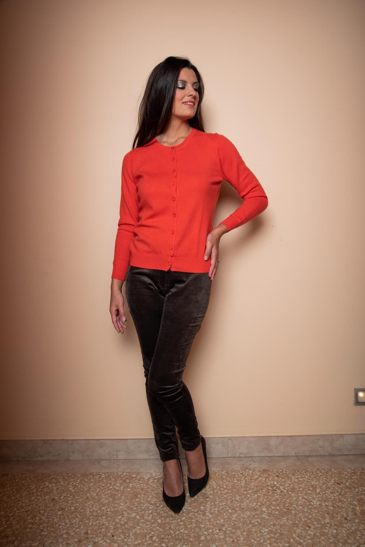 orange cashmere cardigan MARTA | wardrobe basics