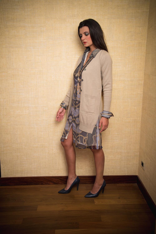 beige cashmere cardigan | luxury winter wear for women
