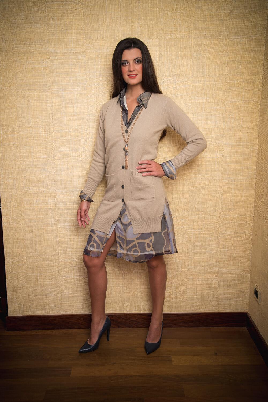 beige cashmere cardigan | luxury winter wear