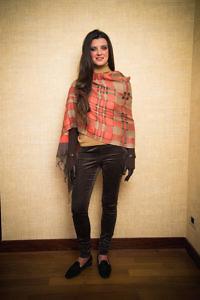 Foulard ANNA | braune lange Lederhandschuhe
