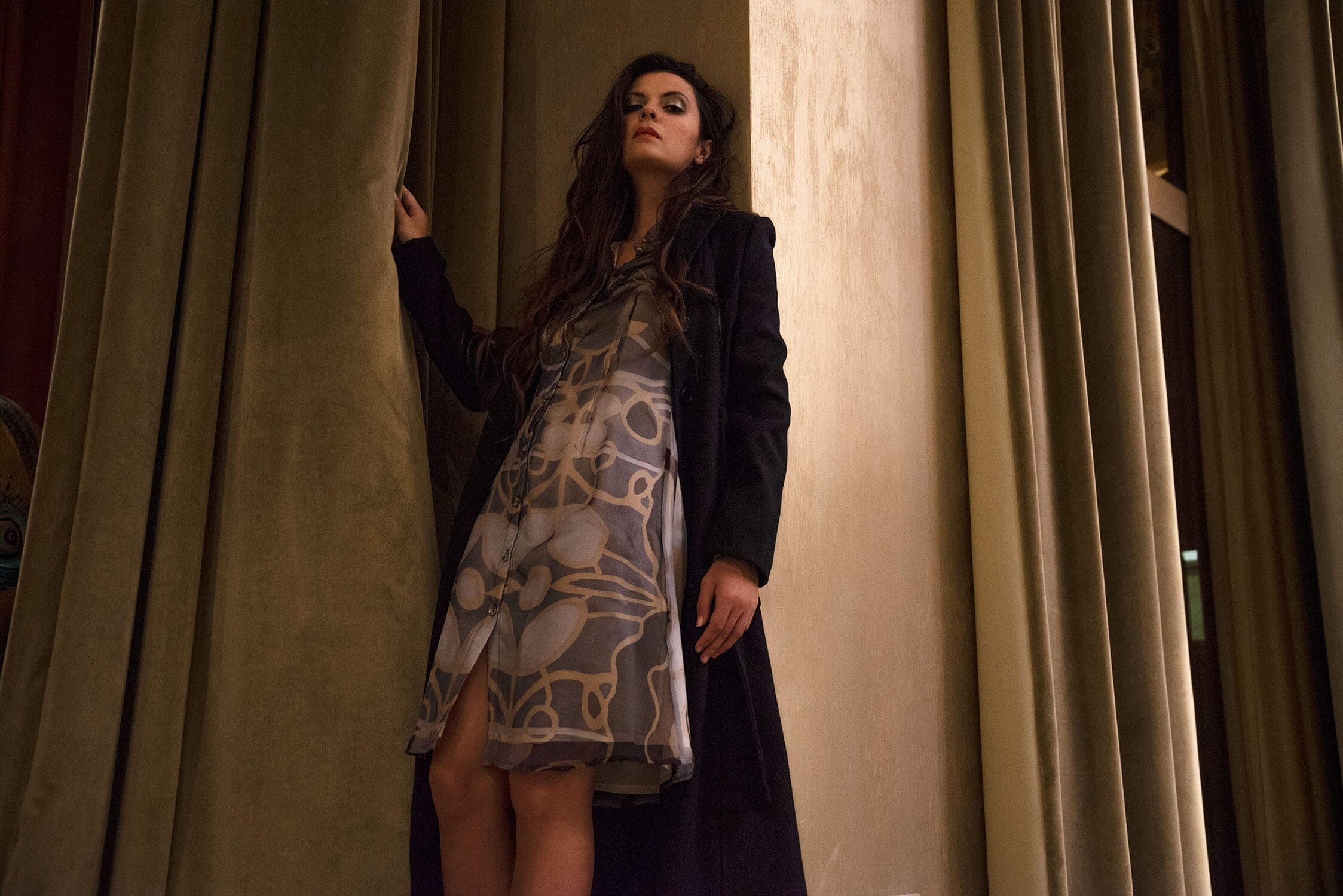 blaues Hemdblusenkleid aus Seide| Online Shop Kleider | Designer-Wintermäntel | ASITA SAHABI