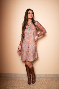 Silk dress with kaleidoscope pattern | Chiffon dress | ASITA SAHABI