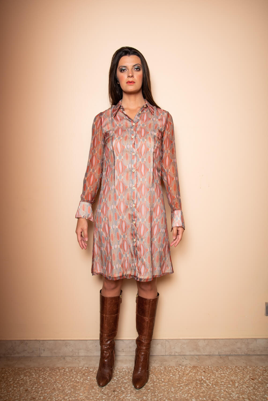 orange silk chiffon dress | Autumn dresses | ASITA SAHABI
