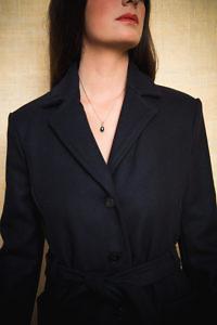 Damenmäntel und -Jacken | dunkelblauer Wollmantel | ASITA SAHABI
