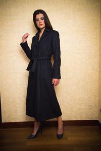 dunkelblauer langer Mantel | Damenmäntel | ASITA SAHABI