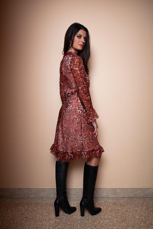 rotes seidenkleid luna | italienische mode online shop