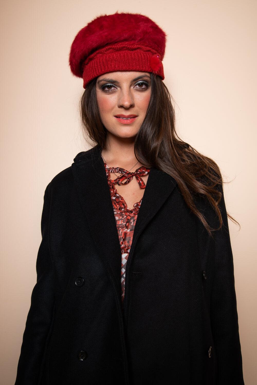 red fur hat | black wool coat | ASITA SAHABI