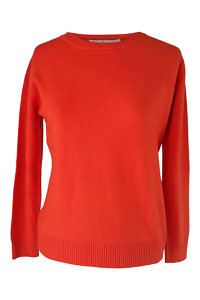 orange cashmere sweater | winter wear for women