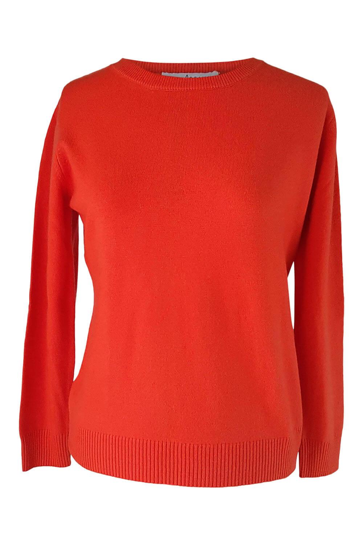 orange cashmere sweater | winter wear for women