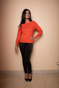 orange cashmere sweater | luxury womenswear