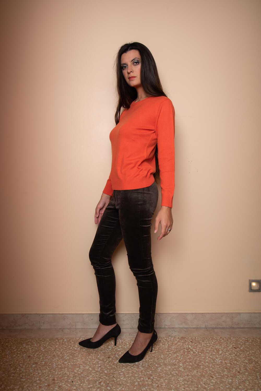 orange cashmere sweater | women's winter wear