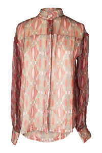 rusty chiffon blouse | exclusive blouses | ASITA SAHABI