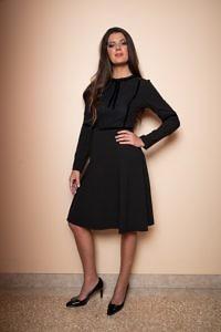 schwarzes A-Linien-Kleid | ASITA SAHABI | Das Kleine Schwarze