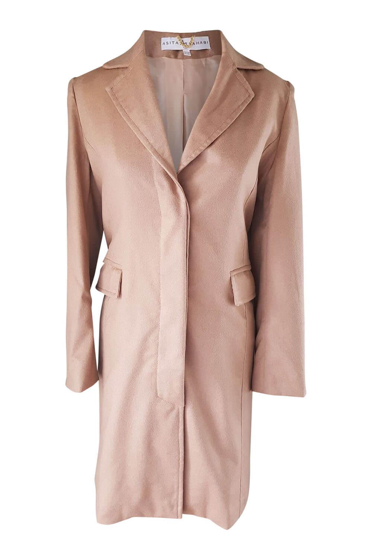 buy online 1eb38 6162c beige blazer coat in a light cashmere wool blend CLARISSA