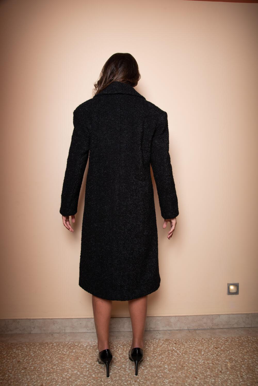 schwarzer Alpakamantel MIA | Italienische Luxus Designer