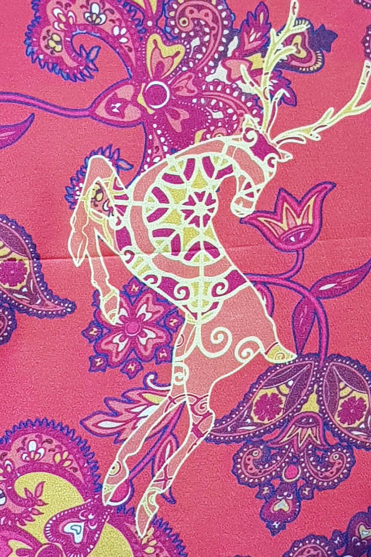 luxury silk foulard in orange and blue