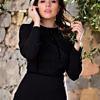 A-line dress in black crêpe and lace | ASITA SAHABI