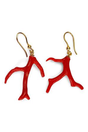 coral earrings   ASITA SAHABI
