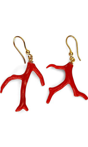 coral earrings | ASITA SAHABI
