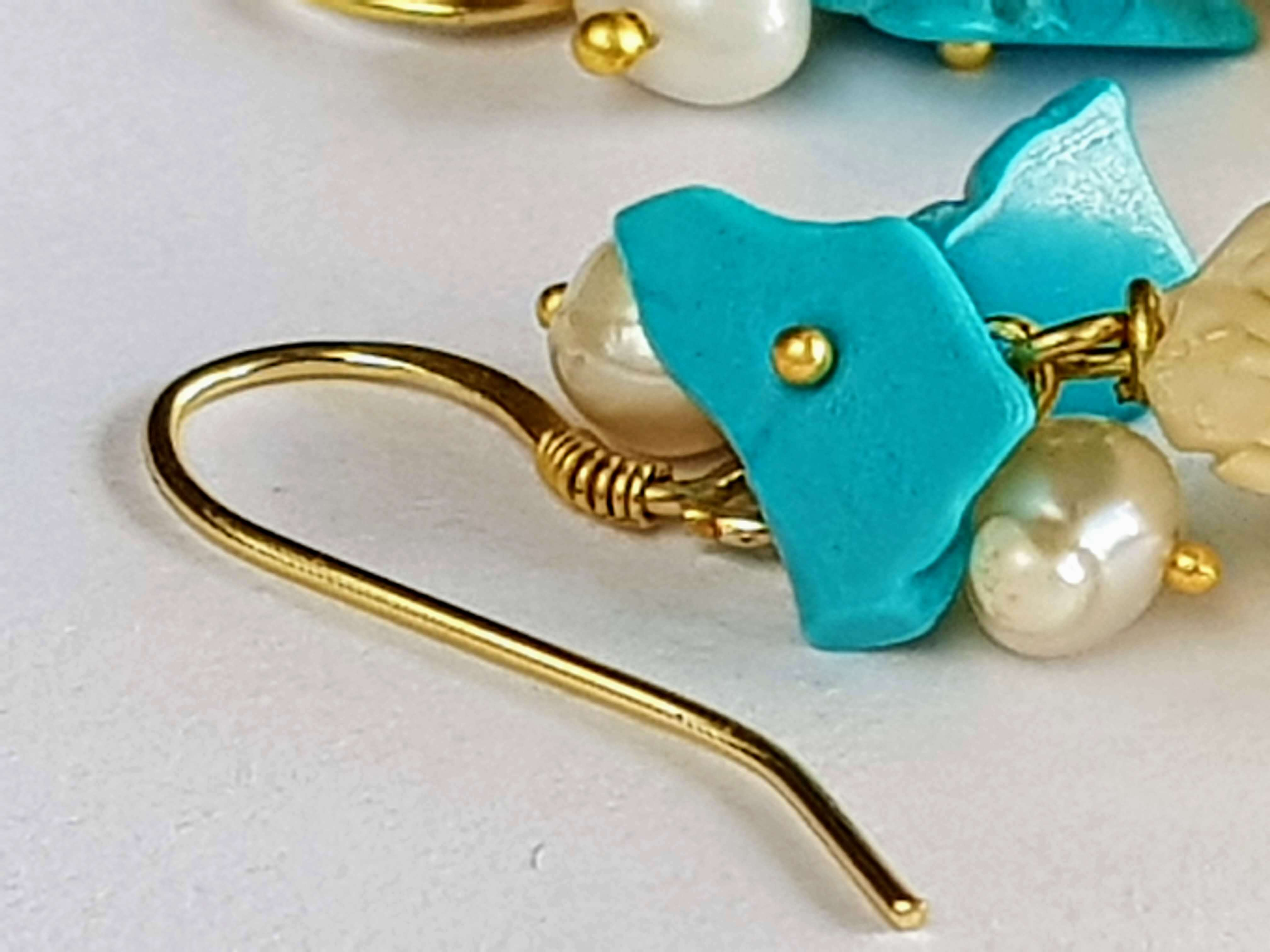 ivory and turquoise earrings | resort fashion