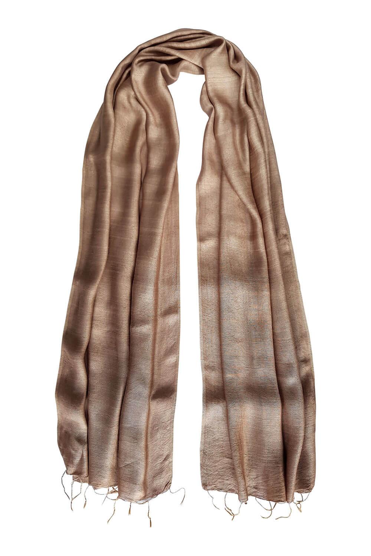 beige silk scarf PAVIA | elegant beige silk foulard