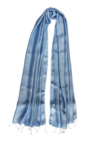 light blue silk scarf | blue silk foulard