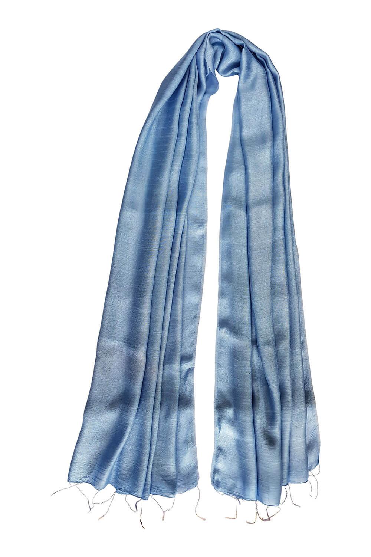light blue silk scarf PAVIA | elegant light blue silk foulard