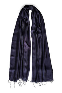dark blue silk scarf | marine blue silk foulard