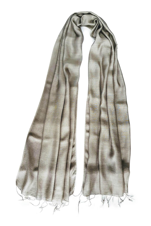 ivory silk scarf PAVIA | elegant ivory silk foulard