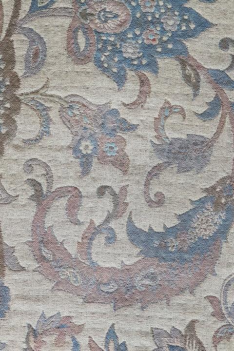 Pashmina in pure wool in blue, brown and ecru