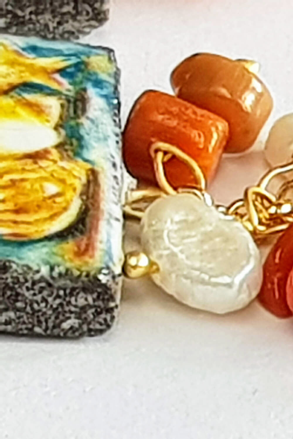 earrings with a tile | maritime jewellery