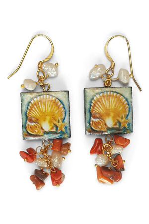 earrings with a tile | resort style fashion