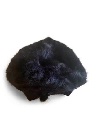 black fur beanie | winter accessories for women