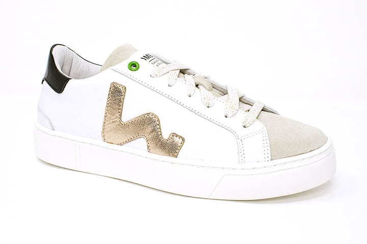 Womsh sneaker -white and golden sneaker