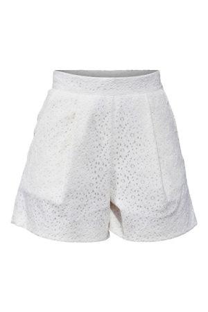 ivory cotton crochet lace shorts | ASITA SAHABI