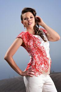 coral printed silk shirt LISSI | ASITA SAHABI