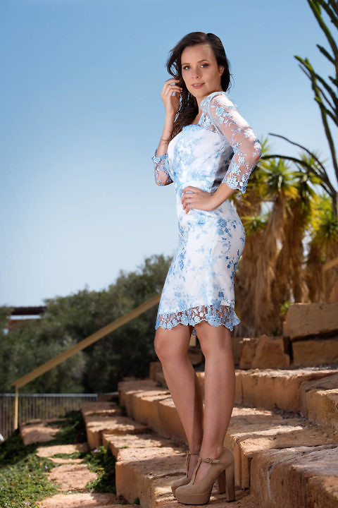 light blue lace dress | ASITA SAHABI