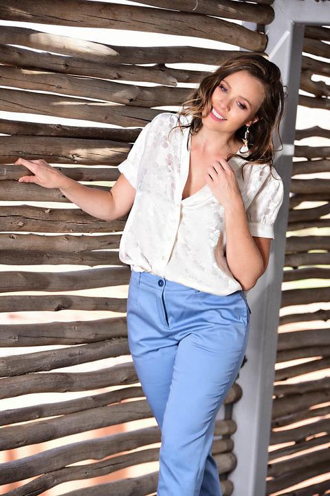 white silk blouse | silk jacquard | ASITA SAHABI